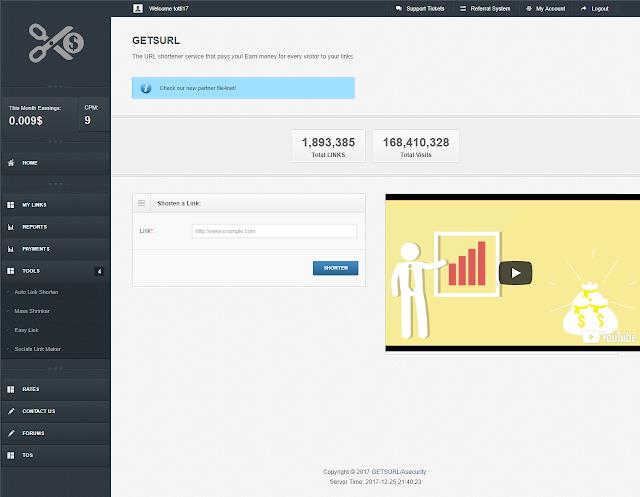 شرح موقع Getsurl للربح من اختصار الروابط واستراتيجيات قوية للربح , الربح من الانترنت