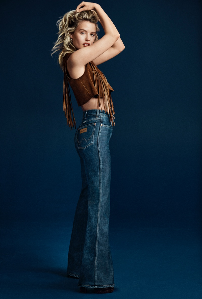 Georgia May Jagger fronts Wrangler Heritage Collection spring-summer 2021 campaign.