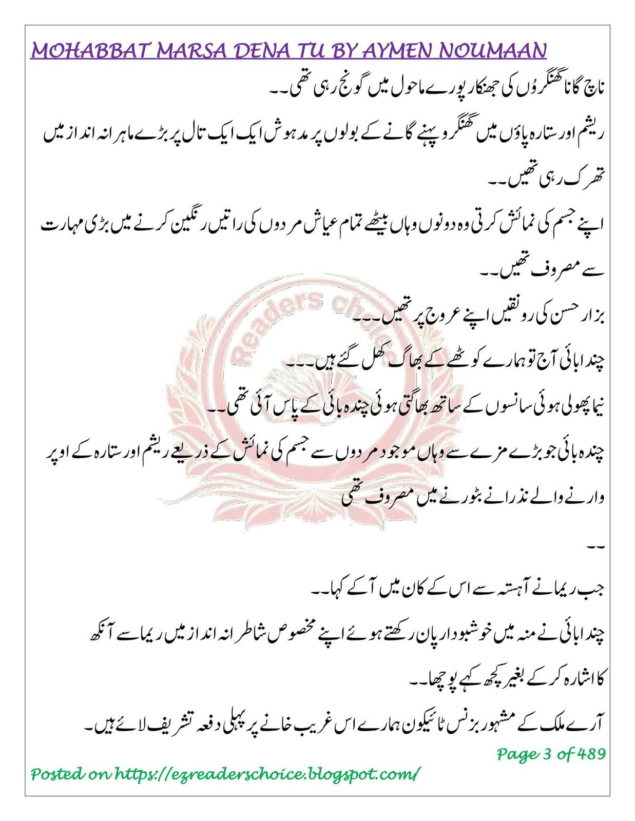 Mohabbat Barsa Dena Tu By Ayman Nauman Forced Marriage Novel
