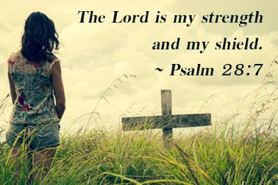 inspirational quotes  the lord is my strength and my shied.