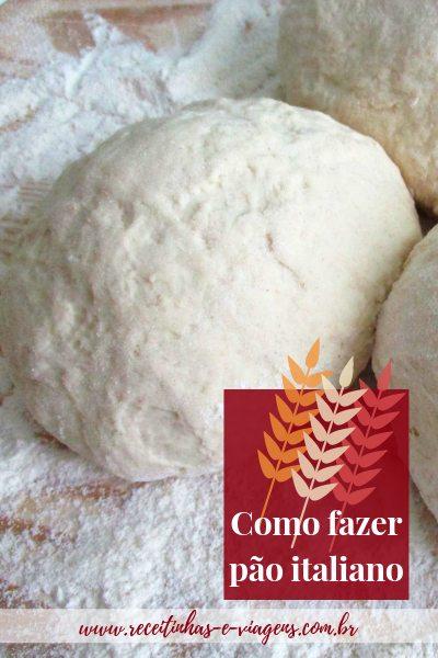 Pão italiano é aquele pão redondinho que usamos para servir sopa. Uma delícia para o inverno