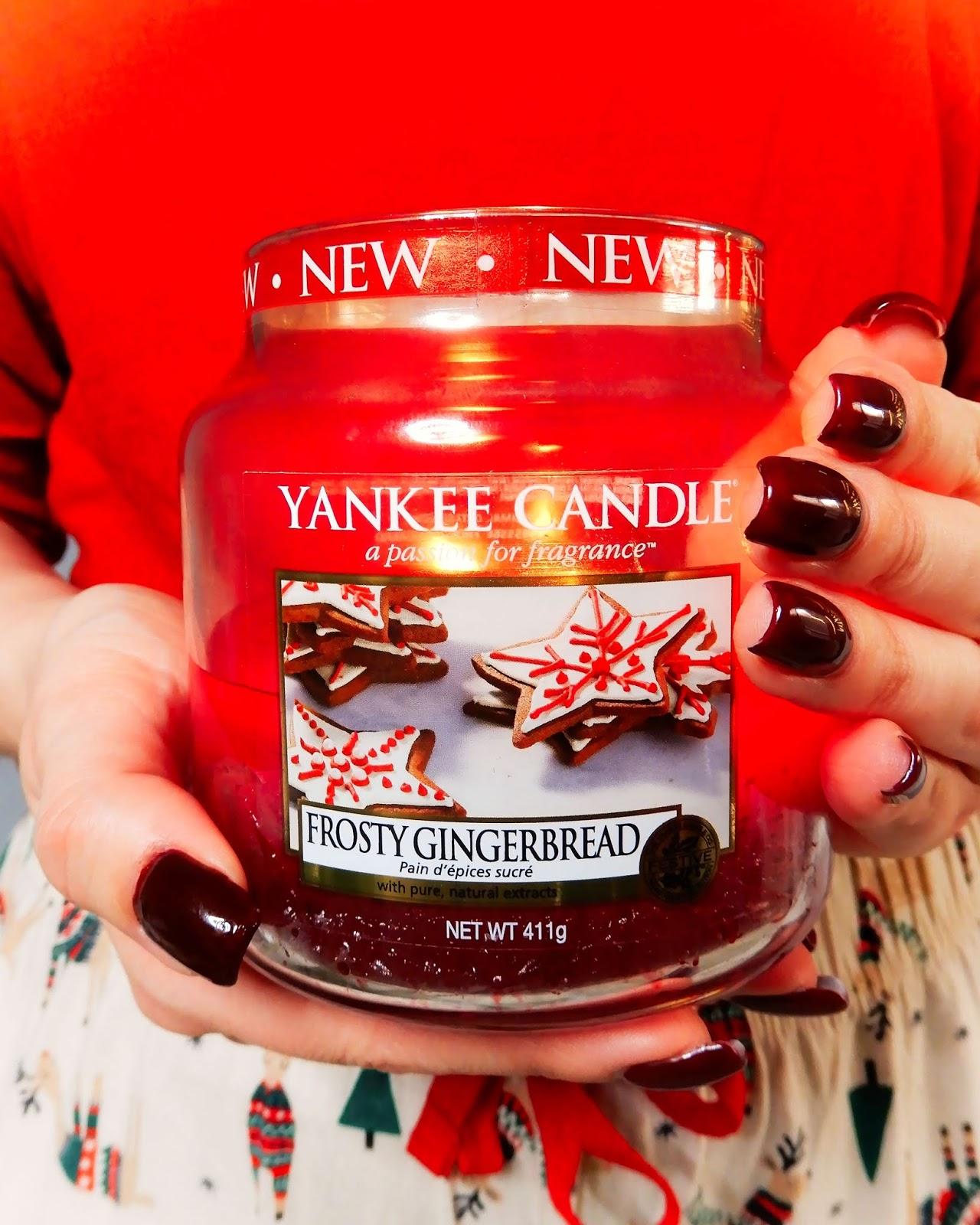 świąteczne inspiracje, świąteczna piżama primark,Yankee Candle Frosty Gingerbread
