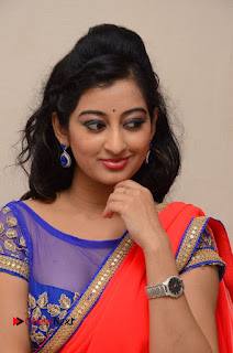 Actress Tejaswini Pictures in Saree at Pratikshanam Audio Launch  0006.JPG