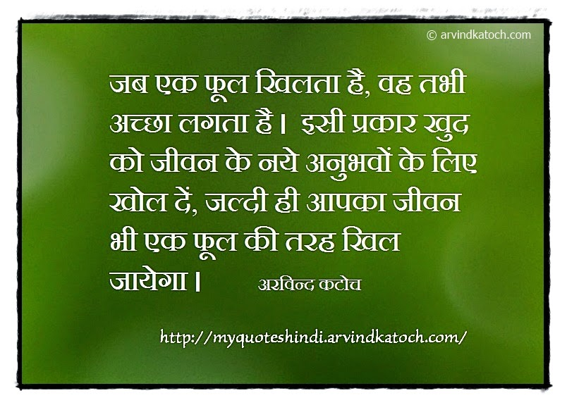 Flower, blooms, good, open, life, Hindi, Quote, Arvind Katoch
