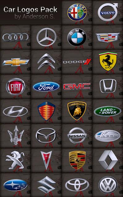 pack de logos de marcas para carros gta sa