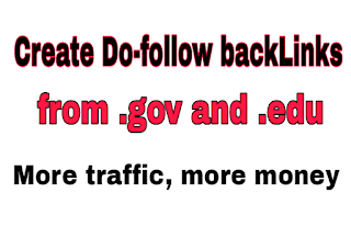 Do-follow backlinks made by commenting on Gov and Edu website