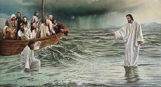 Péter a vizen jár
