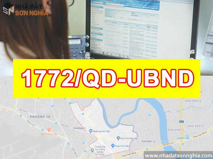 Quyết định số 1772/QĐ-UBND đề án lộ giới đường hẻm tỉ lệ 1/500 phường 5 quận Gò Vấp