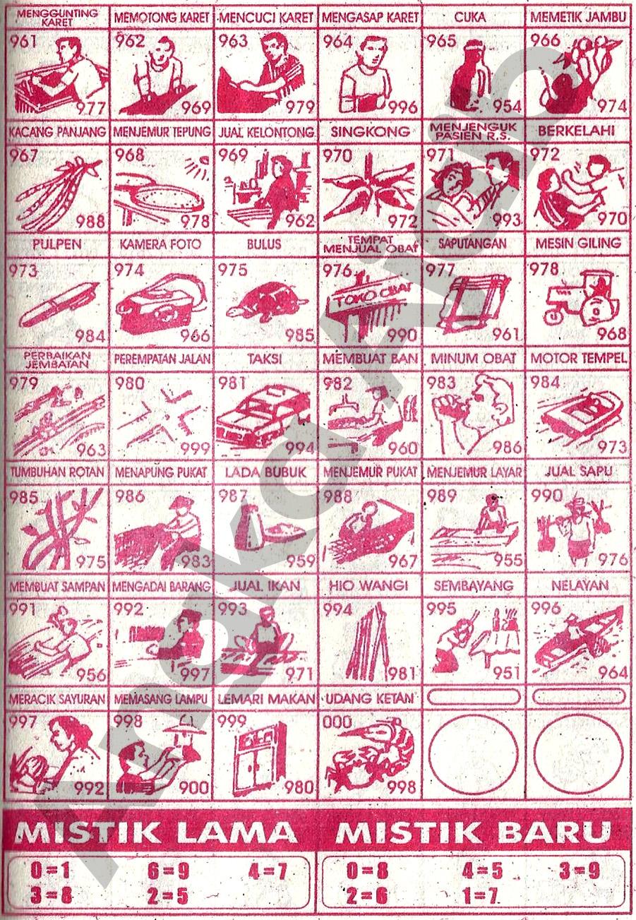 Buku mimpi Erek Erek 3D 961-000