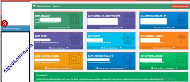 Fungsi menu ambil data dapodik di aplikasi e-rapor