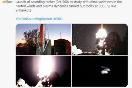 ISRO ने एटिट्यूडाइनल वेरिएशन का अध्ययन करने के लिए साउंडिंग रॉकेट RH-560 लॉन्च किया