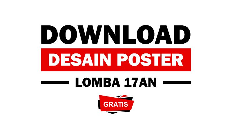 Download Desain Poster Pamflet Lomba 17 Agustus 2020 Cdr