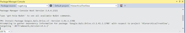 VB .NET Google.Apis.Drive.v3 installation using NuGet in VS2015