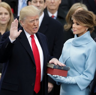 President Trume Taking Oath of Office
