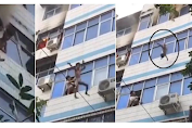VIRAL, Seconds of a Video of a Mother Throwing Her 3 Children from the Second Floor of the Apartment