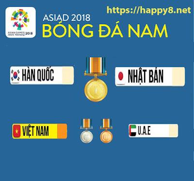chung kết asiad 2018, Hàn Quốc với Nhật Bản, Việt Nam với UEA