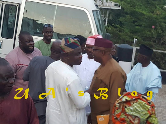 Fayemi shuns reporters, walks out of Tinubu's meeting with Ekiti aspirants