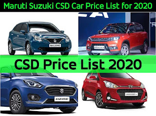 Maruti-Suzuki-CSD-Car-Price-List-for-2020