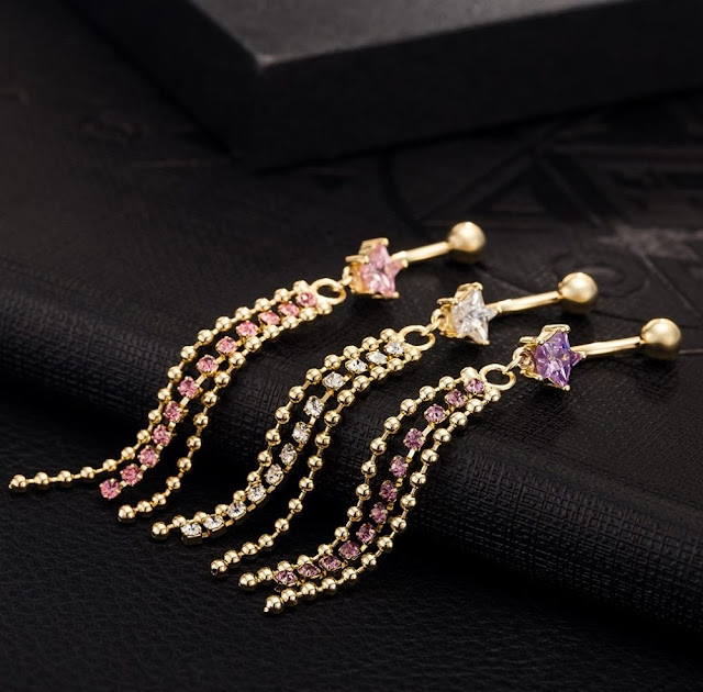 Cute Jewelled Belly Button Rings