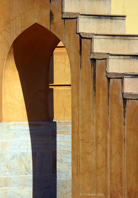Heritage Structure at Jantar Mantar Jaipur, which is famous for Man-made Astronomical Instruments. This Arc and the Steps belongs to one such Architectural Marvel.