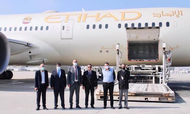 الامارات ترسل طائرة محملة بـ 11 طنا من المساعدات الطبية إلى تونس لمجابهة جائحة فيروس كورونا