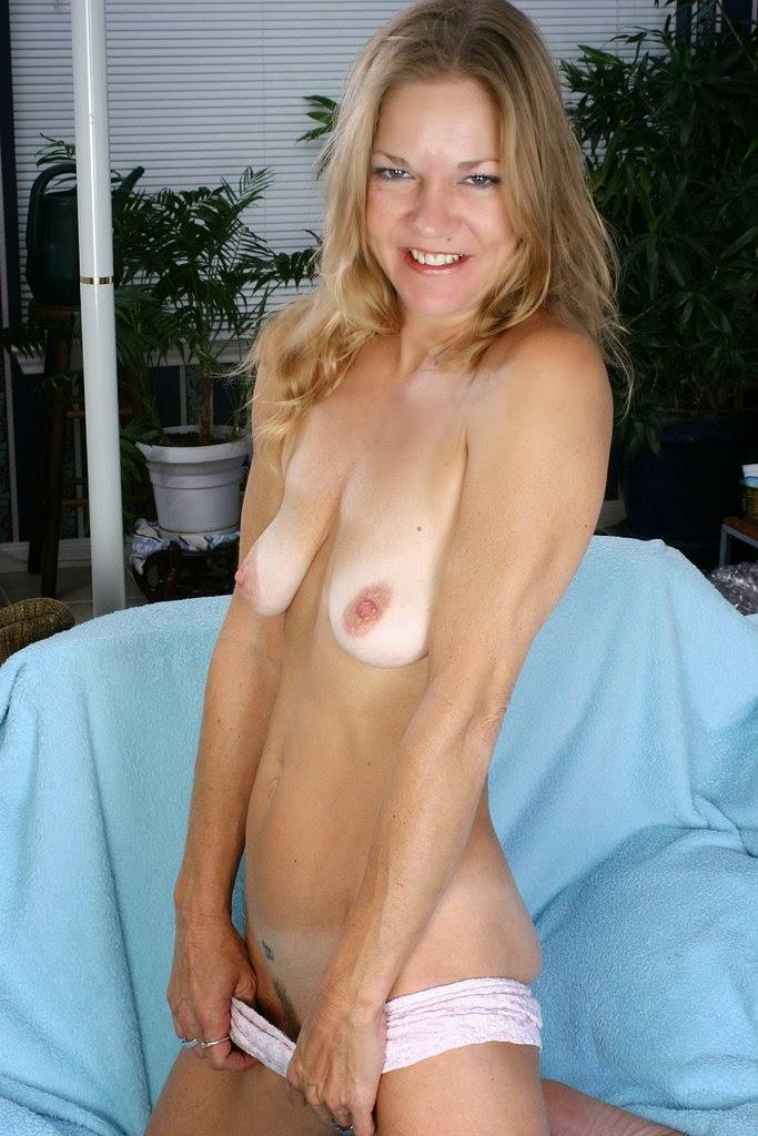 Slim Blonde Mature