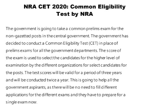 Best books for NRA CET Exam 2020-2021