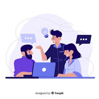 colegas de trabalho png conversando sobre ideias produtivas