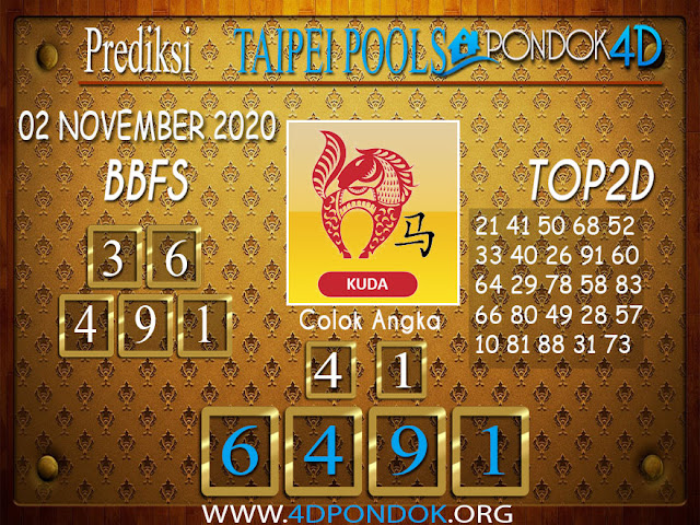 Prediksi Togel TAIPEI PONDOK4D 10 NOVEMBER 20200