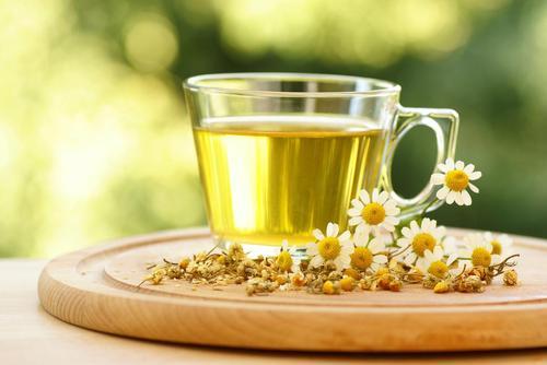Chamomile tea for perfect skin