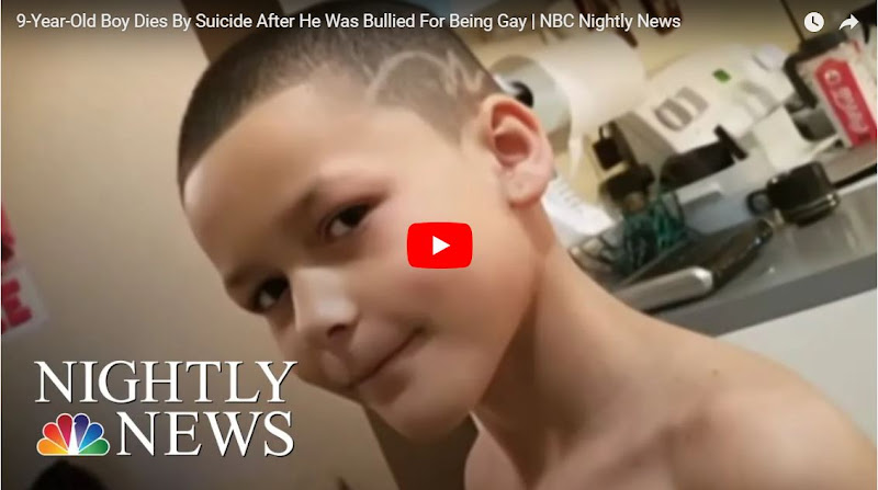 Niño de 9 años le confesó a su madre que era gay y se suicidó 4 días después