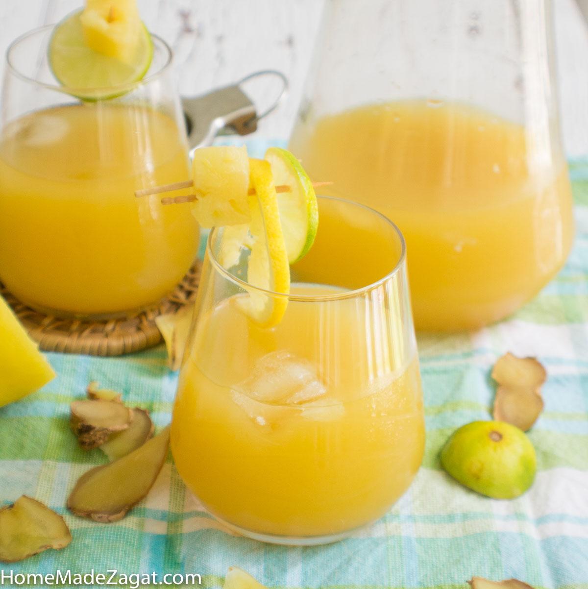 Ginger Pineapple Lemonade