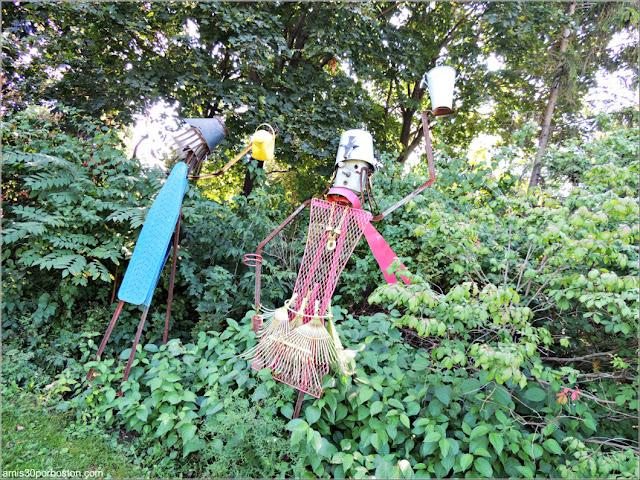 Esculturas del Youth Gardens en el Jardín Botánico de Montreal