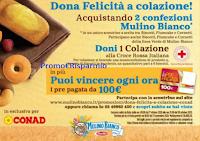 """Mulino Bianco concorso """"Dona Felicità a colazione"""" : ogni ora vinci 1 Card da 100 euro"""