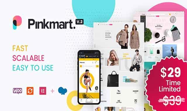 تحميل قالب ووردبريس Pinkmart 2.9.6 مجانا