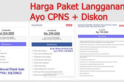Harga Paket Langganan Ayo CPNS + Diskon