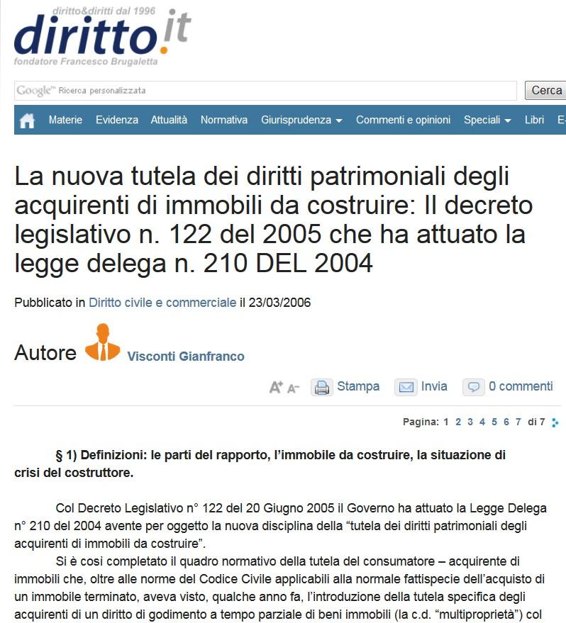 Tg roma talenti ci scrive un lettore ora che il gruppo - Fideiussione bancaria o assicurativa acquisto casa ...