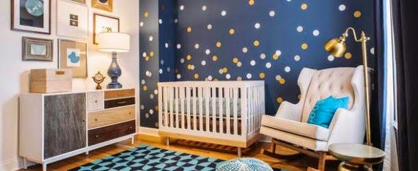 habitación azul para bebé