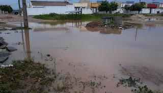 Chove no sertão paraibano; Sousa teve alagamento na manhã desta segunda (17)