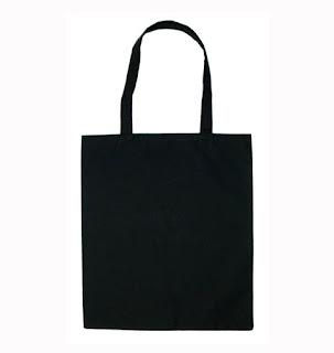 Bolso de algodón Negro