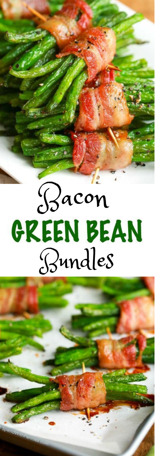 Bacon Wrapped Green Bean Bundles #dinner #Wrapped