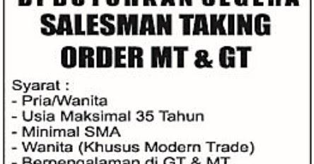 Lowongan kerja pt. rintis sejahtera makmur oktober 2015