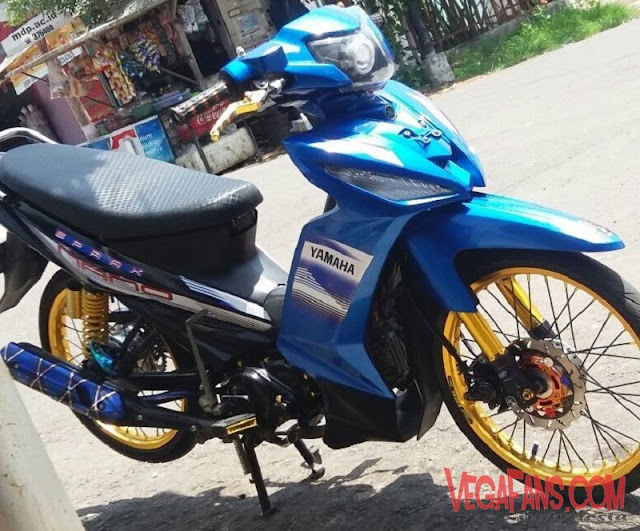 Modifikasi Vega RR Biru Modif Thailook Simple