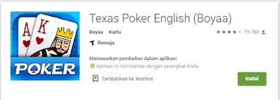 Review Singkat Texas Poker English (Boyaa) Android