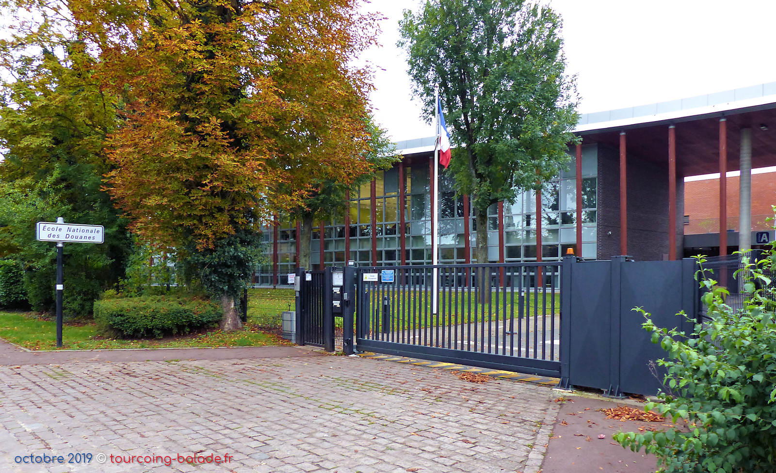 École Nationale des Douanes END, Tourcoing - Entrée.