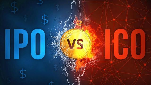 الاكتتاب العام الأولي IPO و طرح العملات الأولية ICO