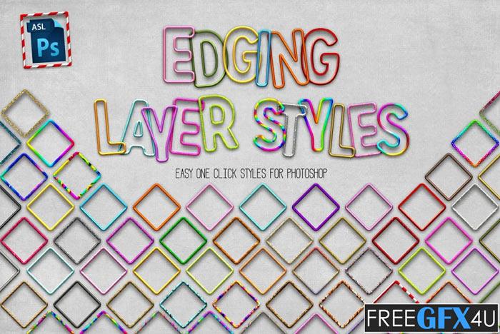 70 Photoshop Edging Styles