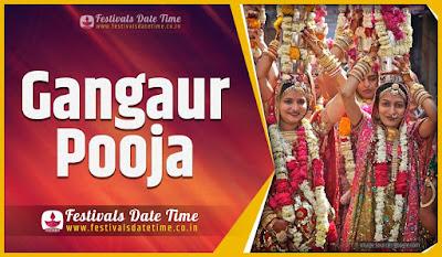 2021 Gangaur Pooja Date and Time, 2021 Gangaur Festival Schedule and Calendar