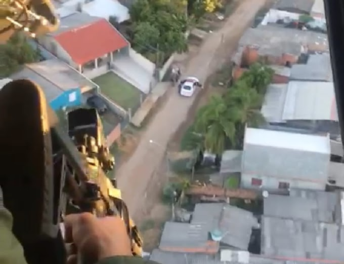 Brigada Militar realiza operação com apoio de helicóptero em Gravataí