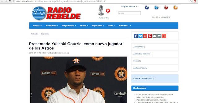 ¿Qué siginifica que la prensa en Cuba da a conocer firma de Yulieski con los Astros?